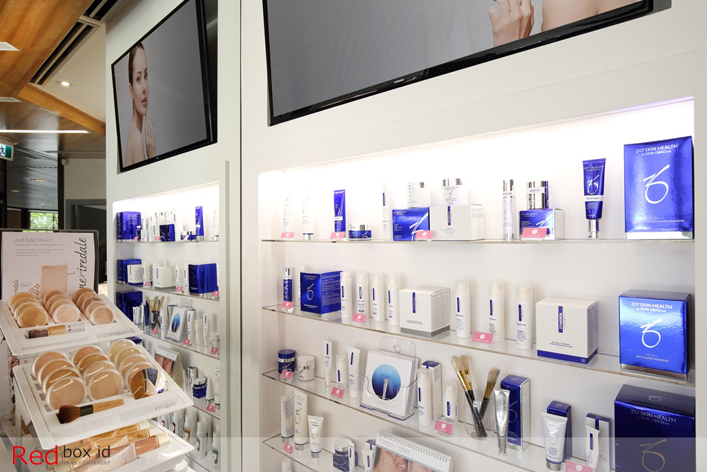 NuAge Laser Clinic Retail Product Display Designed by Red Box ID