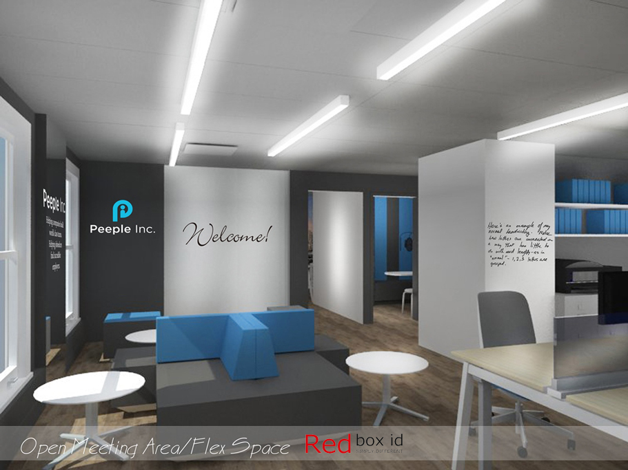 Peeple Office Open Meeting Area Designed by Red Box ID