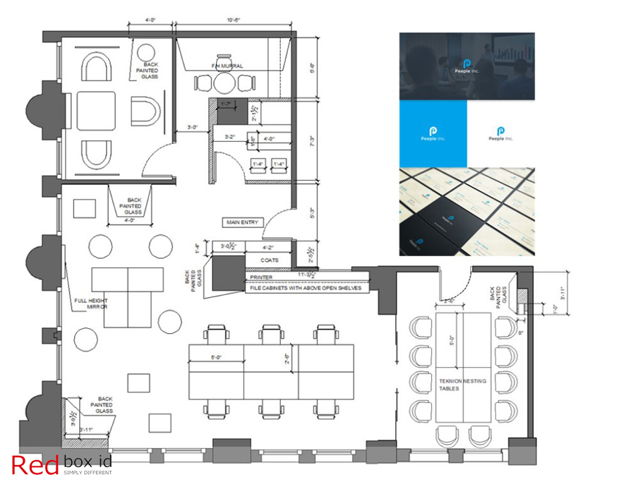 Peeple Office Space Planning Designed by Red Box ID