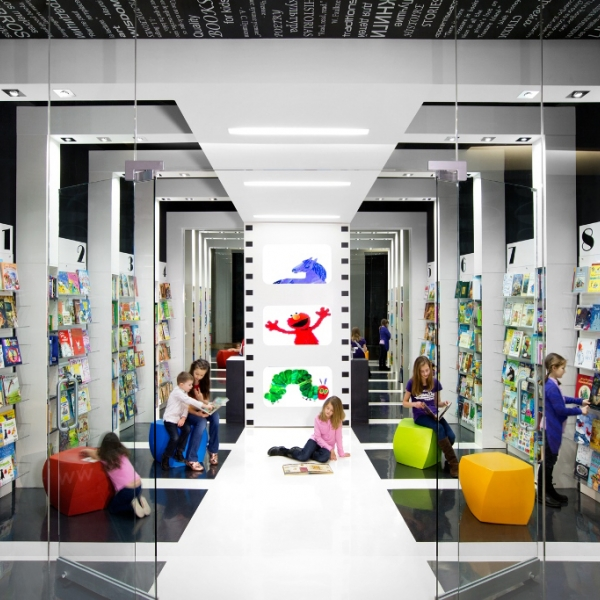 World Kids Books Front View Bookstore Designed by Red Box ID