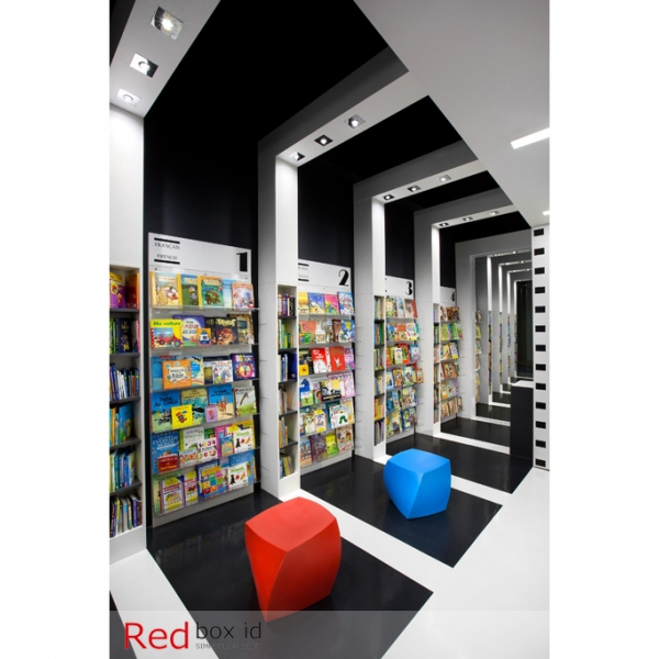 World Kids Books Acrylic Shelving Designed by Red Box ID