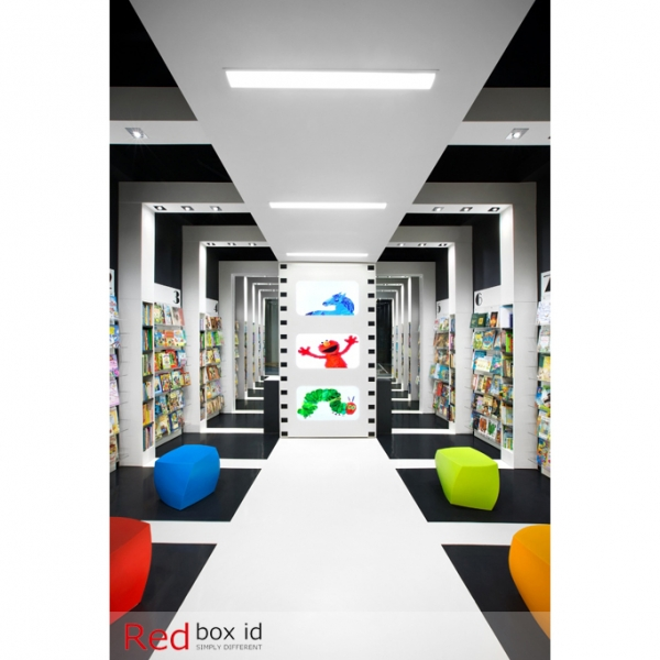 World Kids Books Interactive TV Displays Designed by Red Box ID